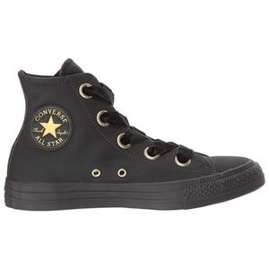 Rare Black Leather Converse Chuck Taylor All Star